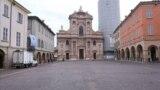 Străzi pustii la Reggio Emilia, Italia