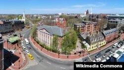 Pamje nga Universiteti Harvard në SHBA.