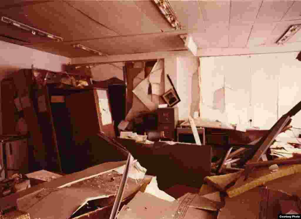 Последствия взрыва 21 февраля 1981 года