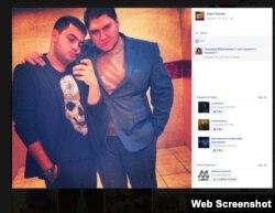 Azim G'aniev (o'ngda) Facebook sahifasidagi ko'plab rasmlardan biri (skrinshot)
