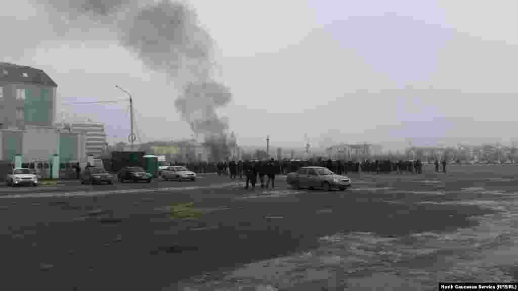 Антитеррористический митинг в Грозном, 8 января 2017 год.