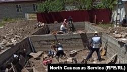 Работы на могильнике, Северная Осетия