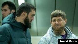Глава Чечни Рамзан Кадыров с главой парламента республики Магомедом Даудовым