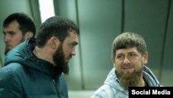 Глава Чечни Рамзан Кадыров и спикер парламента Магомед Даудов