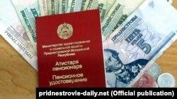Adeverință de pensionar și bani din regiunea transnistreană