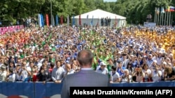Эта молодежь не знала другого президента. Форум в Пятигорске, август 2018 года