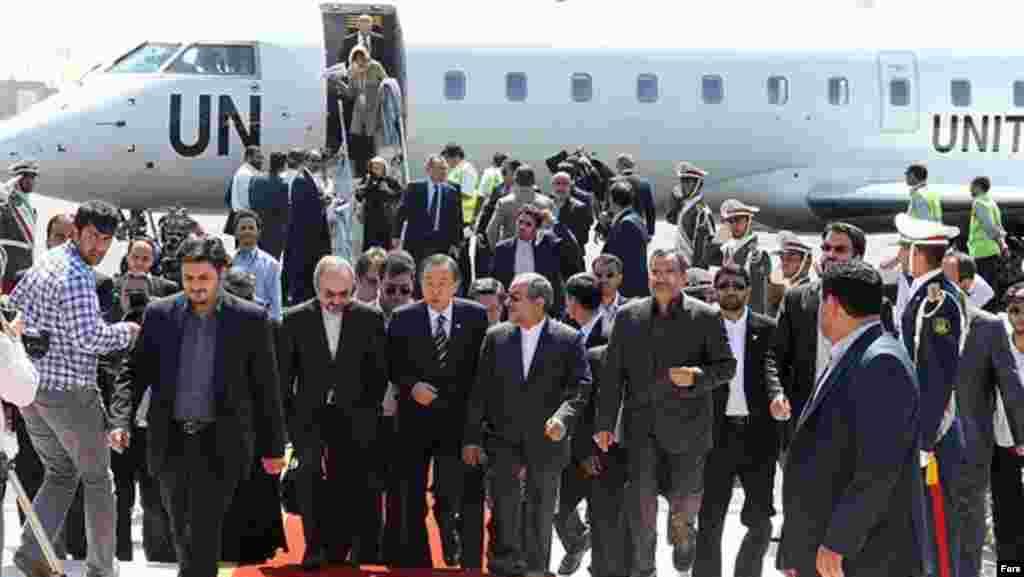 ورود بان گی مون، دبیرکل سازمان ملل به تهران