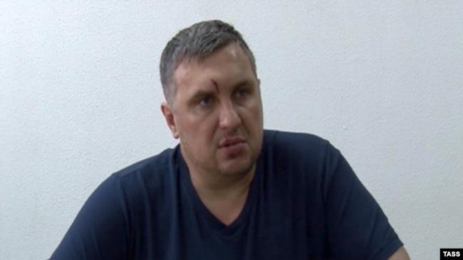 Євген Панов під час запису оперативного відео ФСБ Росії