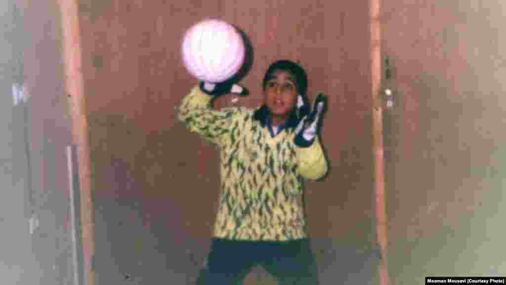 هومان موسوی در نوجوانی