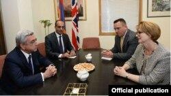 Հայաստանի նախագահի և Միացյալ Թագավորության դեսպանի հանդիպումը, 9-ը հունիսի, 2014թ․