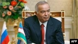 Uzbekistan -- CROPPED President Islam Karimov at Tashkent meeting with Russia's Putin (not pictured) 02Sep2008