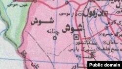 نقشه منطقه مرزی فکه در استان خوزستان