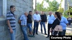Кетеван Цихелашвили встречается с жителями Гугутианткари