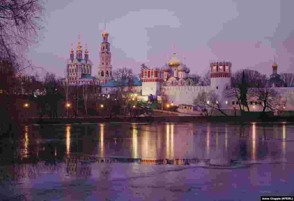 Founded in 1898, the cemetery lies alongside the Novodevichy Monastery in southwest Moscow.