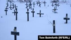 Кладбище узников ГУЛАГа в Воркуте