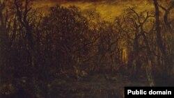 Тэадор Русо, «Лес зімою на зьмярканьні» (1847)
