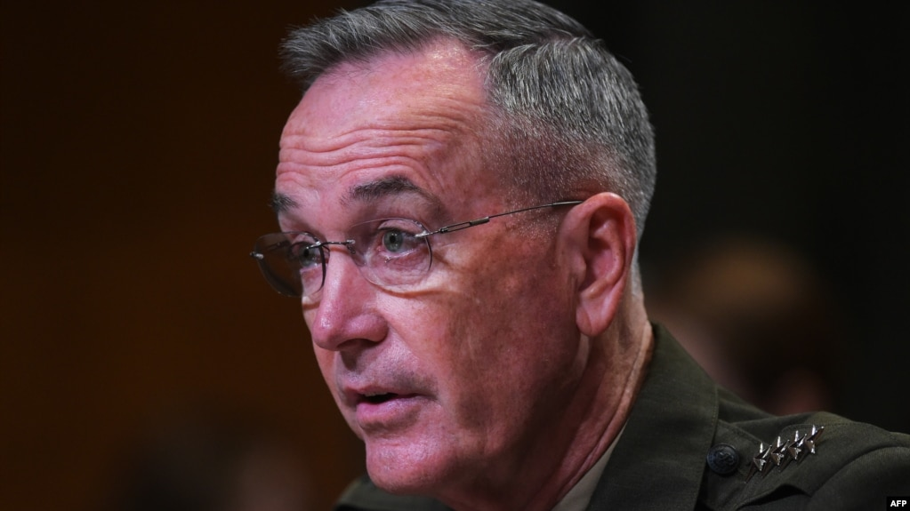 U.S. Chairman of the Joint Chiefs of Staff Joseph Dunford (file photo)