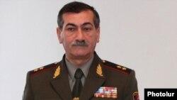 Armenia - Lieutenant-General Martin Karapetian, head of the Vazgen Sarkisian Military Institute in Yerevan, 9Feb2013.