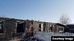 Пепелище, оставшееся от дома Владимира Швецова