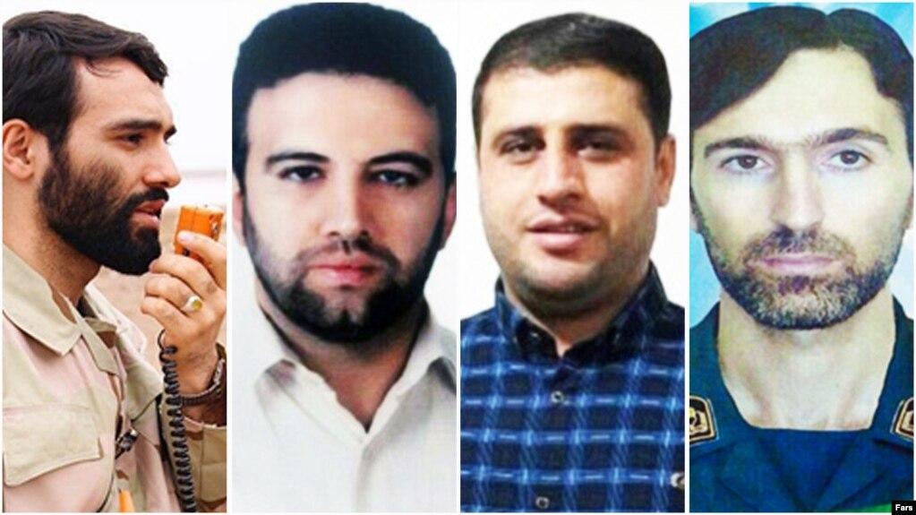 چهار تن از هفت کشته ایرانی حمله به یک پایگاه هوایی در حمص سوریه (از چپ به راست): مهدی لطفی نیاسر، اکبر زوار جنتی، عماسر موسوی و مهدی دهقانی