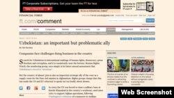 Британиянинг нуфузли газетаси кейинги бир ҳафта ичида Ўзбекистонга оид иккинчи мақалани эълон қилмоқда.