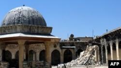 Значних пошкоджень зазнала мечеть Омейядів в Алеппо (архівне фото, квітень 2013 року)