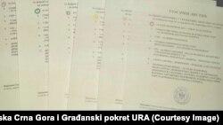 Da li su šareni glasački listići legalni: Dio glasačkih listića koje opozicija smatra nelegalnim