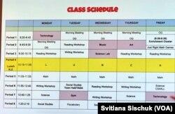 Расписание занятий первого класса