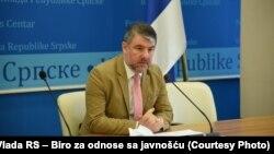 Alen Šeranić, ministar zdravlja Republike Srpske