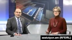 Руководитель оппозиционной парламентской фракции «Лусавор Айастан» Эдмон Марукян в студии Азатутюн ТВ, Ереван, 16 декабря 2019 г․