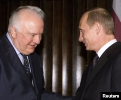 Встреча Владимира Путина и Эдуарда Шеварднадзе, октябрь 2002 года