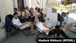 Fudbaleri traže zaostala dugovanja ispred Skupštine Čačka