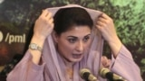 Maryam Nawaz, leader of Pakistan Muslim League and daughter of jailed former Prime Minister Nawaz Sharif, addresses a news conference in Lahore on July 24.