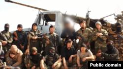 """""""ВКонтакте"""" әлеуметтік желісінде 2014 жылы """"Сирияда соғысып жүрген жихадшы қазақтар"""" туралы жарияланған видеодан скирншот."""