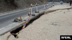 Оштетување на магистралниот пат Битола-Ресен