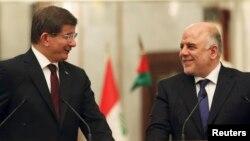رئيس الوزراء العراقي ونظيره التركي في بغداد