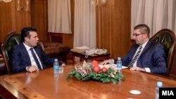 Архивска фотографија- премиерот Зоран Заев се сретна со претседателот на ВМРО-ДПМНЕ Христијан Мицкоски