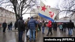 Під час акції в Мінську, Білорусь, 15 березня 2017 року