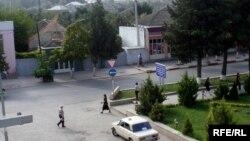 На одной из улиц Хачмаза