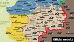 Ситуация в зоне боевых действий на Донбассе 7 августа (карта)