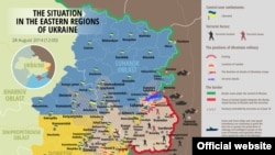 Вазъ дар ҷабҳаҳои Украина то 28 август