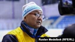 Қазақстан шорт-трек құрамасының бас бапкері Мәдіғали Қарсыбеков.