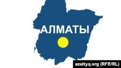 Алматы қаласының картасы.
