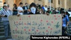 Gürcüstan yüngül narkotiklərin dekriminallaşdırılmasına dəstək aksiyası, 2013-cü il