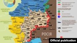 Ситуація в зоні бойових дій на Донбасі, 16 січня 2020 року. Інфографіка Міністерства оборони України