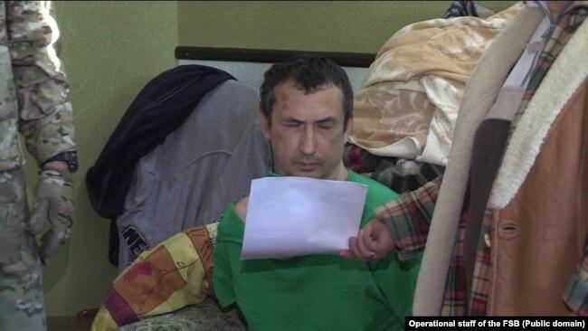 Евгений Каракашев в момент задержания, январь 2018 года