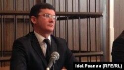 Tatar activist Ramil Ibragimov in court on January 30.