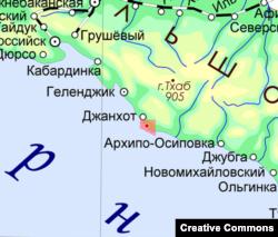 """""""Путин сарайы"""" айналасындағы ұшуға болмайтын аумақ."""