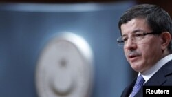 Turkey -- Foreign Minister Ahmet Davutoglu addresses the media in Ankara, 05Mar2010