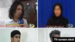 Иран теледидары арқылы көрсетілген тұтқындағы шерушілер бейнесі. 23 маусым 2009 ж.